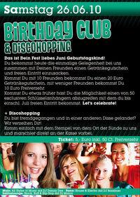 Birthday Club & Discoshopping@Bali  Eggenfelden