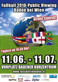 Fußball - Public Viewing 2010@Vorplatz Badener Kurzentrum