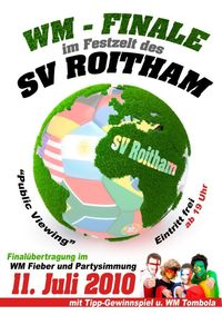 Wm Finale/ Public Viewing@SV Roitham