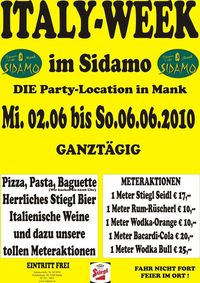 Italy-Week im Sidamo@Cafe Sidamo Mank