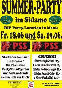 Summer-Party im Sidamo mit PSS@Cafe Sidamo Mank
