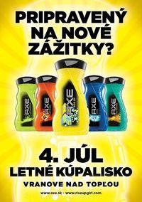 Axe Sprchovacia Párty@Letné kúpalisko Vranov nad Topľou