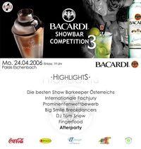 Hardfacts zur Bacardi Show Bar Comp