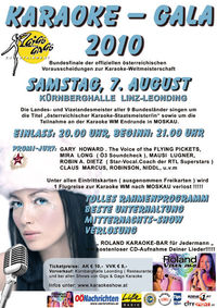 Karaoke – Gala 2010