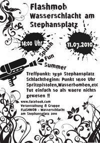 FLASHMOB - Wasserschlacht am Stephansplatz 2010