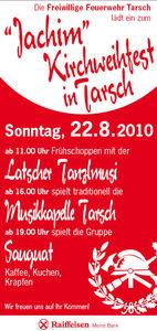 Jachim Kirchweihfest der Freiwilligen Feuerwehr Tarsch@Vereinshaus Tarsch