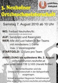 3. Neuhofner Ortsbeachmeisterschaft@Freibad Neuhofen an der Krems
