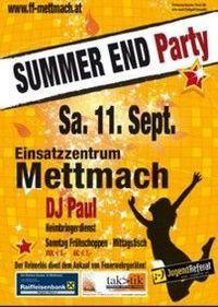 Summer End Party@Einsatzzentrum Mettmach