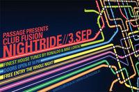 Passage presents Club Fusion Nightride@Babenberger Passage