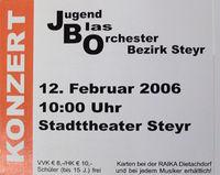 Konzert des JBO-Bezirk-Steyr@Stadttheater (Saal 1)