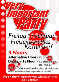Very Important Party@Freizeitparadies