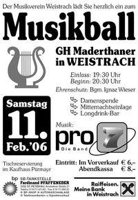Musikball 2006@GH Maderthaner