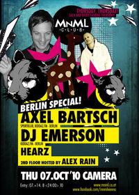 MNML Berlin Special with DJ Emerson & Axel Bartsch@Camera Club