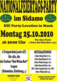 Nationalfeiertagsparty@Cafe Sidamo Mank