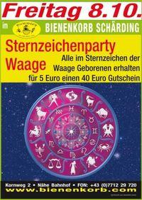 Sternzeichenparty Waage@Bienenkorb Schärding