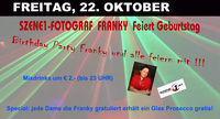 Szene1-Fotograf Franky feiert Geburtstag!