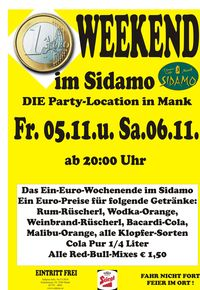Ein Euro Weekend im Sidamo@Cafe Sidamo Mank