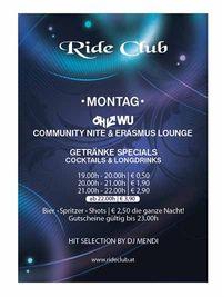 OEHWU Community & Erasmus Lounge@Ride Club