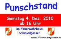 Punschstand - FF Schmiedgassen@Feuerwehrhaus Schmiedgassen