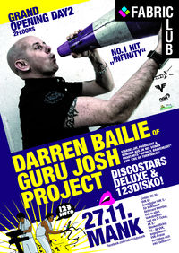Darren Bailie of the Guru Josh Project@Fabric Club