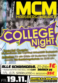 College Night@MCM Hartberg