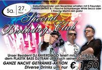 Special Birthday Club mit Plastik Bass DJ-Team & DJ Selecta@Brooklyn
