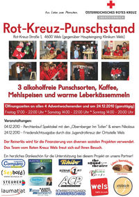 Rot-Kreuz-Punschstand@Rotes Kreuz - Bezirksstelle Wels