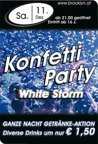 "Konfetti Party ""White Storm""@Brooklyn"