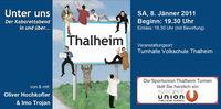 """Oliver Hochkofler """"Unter uns in Thalheim""""@Turnsaal der Volksschule Thalheim"""