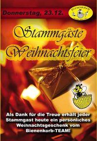 Stammgäste Weihnachtsfeier@Bienenkorb Schärding