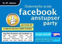 Österreichs erste Facebook – Anstupser – Party