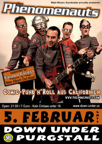 The Phenomenauts (USA) + Exceed Excess LIVE!!