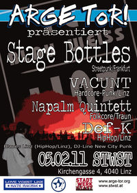 Arge Tor!-Party mit Stage Bottles, Vacunt usw.