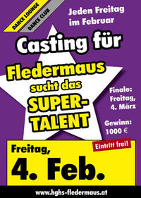 Casting für Fledermaus sucht den Superstar