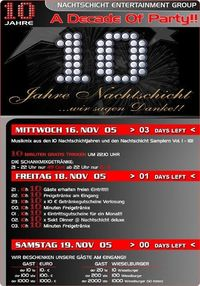 A Decade Of Party (10 Jahre NS)