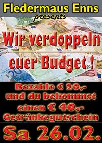 Wir verdoppeln euer Budget !