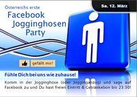 Österreichs erste Facebook Jogginghosen Party