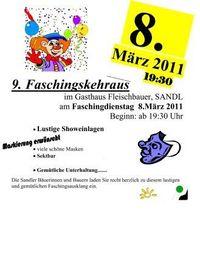 Faschingskehraus Sandl@Gasthaus Fleischbauer