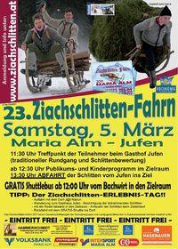 23. Ziachschlitten-Fahrn vom Jufen@Maria Alm - Rodelbahn Jufen