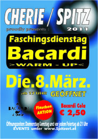 Faschingsdienstag  Bacardi Warm - Up