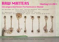 Raw Matters - ein ungeschliffener Performanceabend@Weberknecht