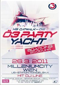 Die Ö3-Party-Yacht@Anlegestelle Wien