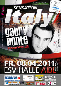 Sensation Italy - Gabry Ponte live@ESV Veranstaltungshalle Aibl
