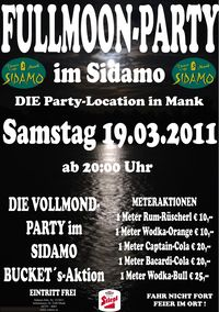 Fullmoon Party im Sidamo@Cafe Sidamo Mank