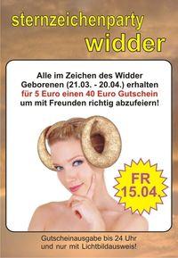 Sternzeichenparty Widder