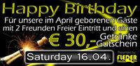 Happy Birthday - April Geburtstagskinder!