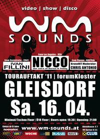 WM-Sounds Tourauftakt '11 mit Nicco the voice of Darius & Finlay@forumKloster Gleisdorf