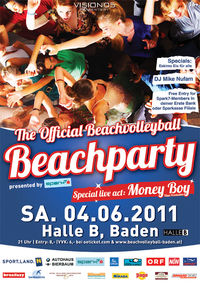 Beachparty presented by Spark7 - Money Boy live@Halle B