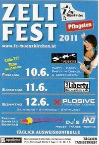 Zeltfest + Clubbingzelt Münzkirchen@Sportplatz Münzkirchen