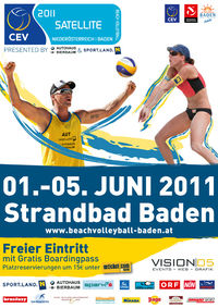 Beachvolleyball CEV Satellite@Strandbad